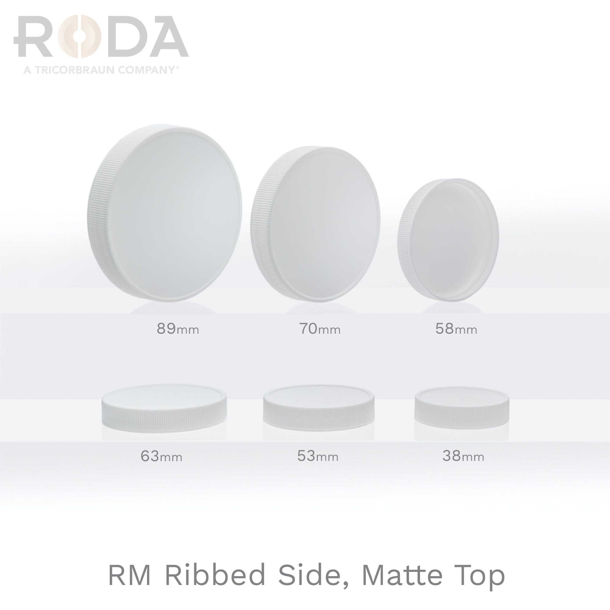 RM Ribbed Side, Matte Top