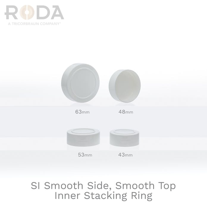 SI Smooth Side, Smooth Top Inner Stacking Ring