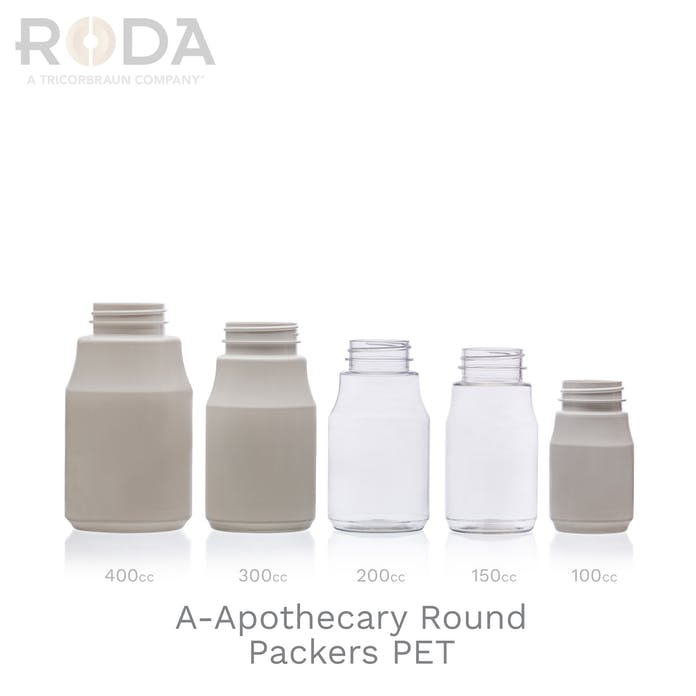 A-Apothecary Round Packers PET