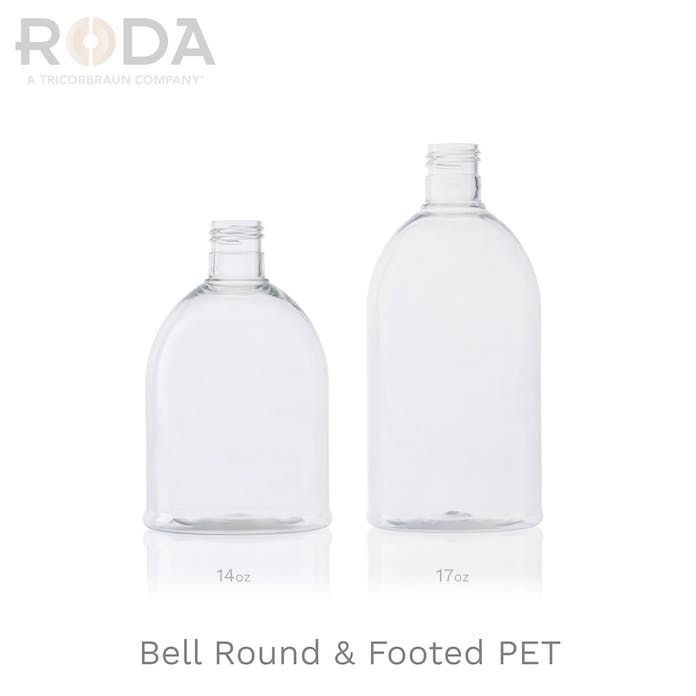 Bell Round & Footed PET