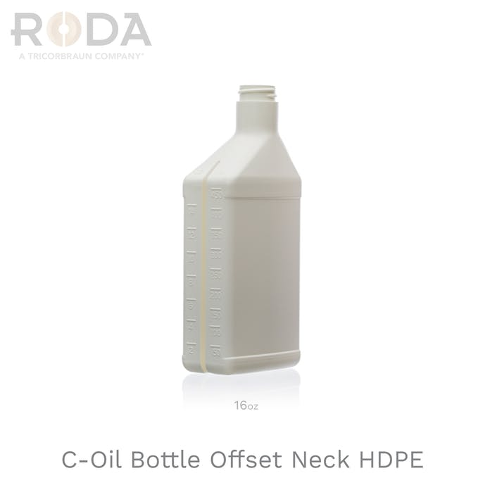 C-Oil Bottle Offset Neck HDPE
