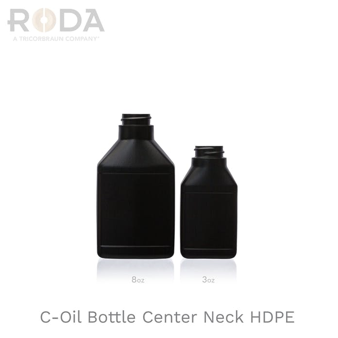 C-Oil Bottle Center Neck HDPE