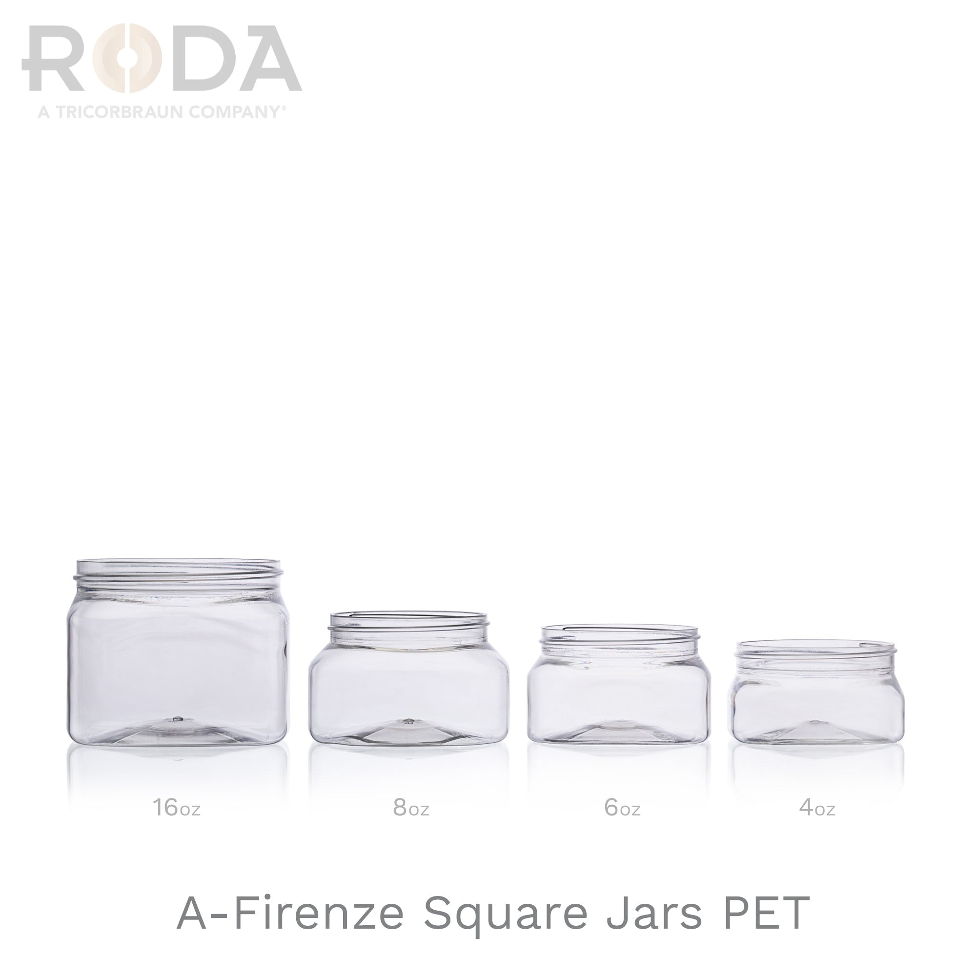 A-Firenze Square Jars PET