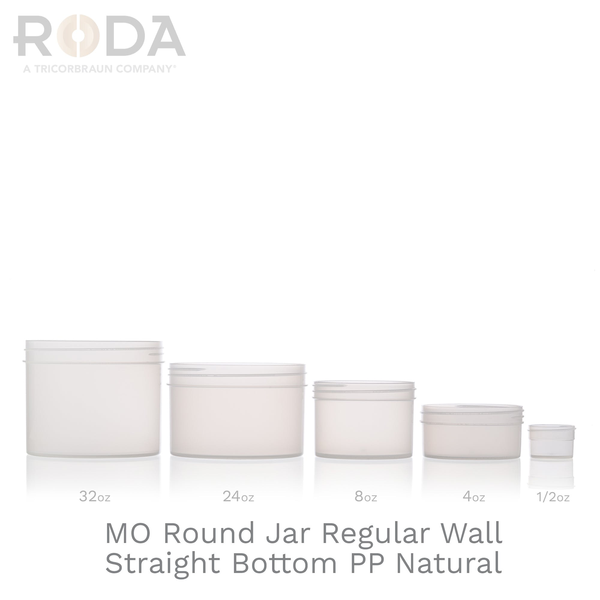 MO Round Jar Regular Wall Straight Bottom PP Natural