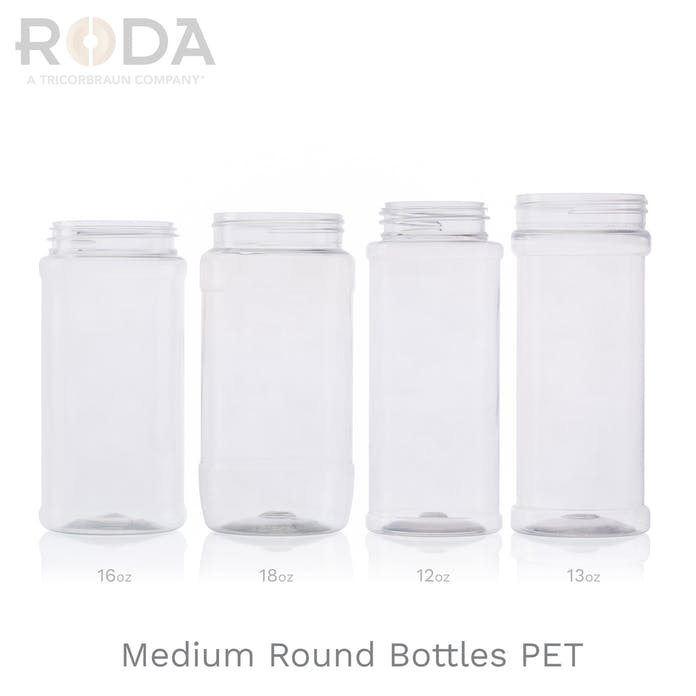 Medium Round Bottles PET