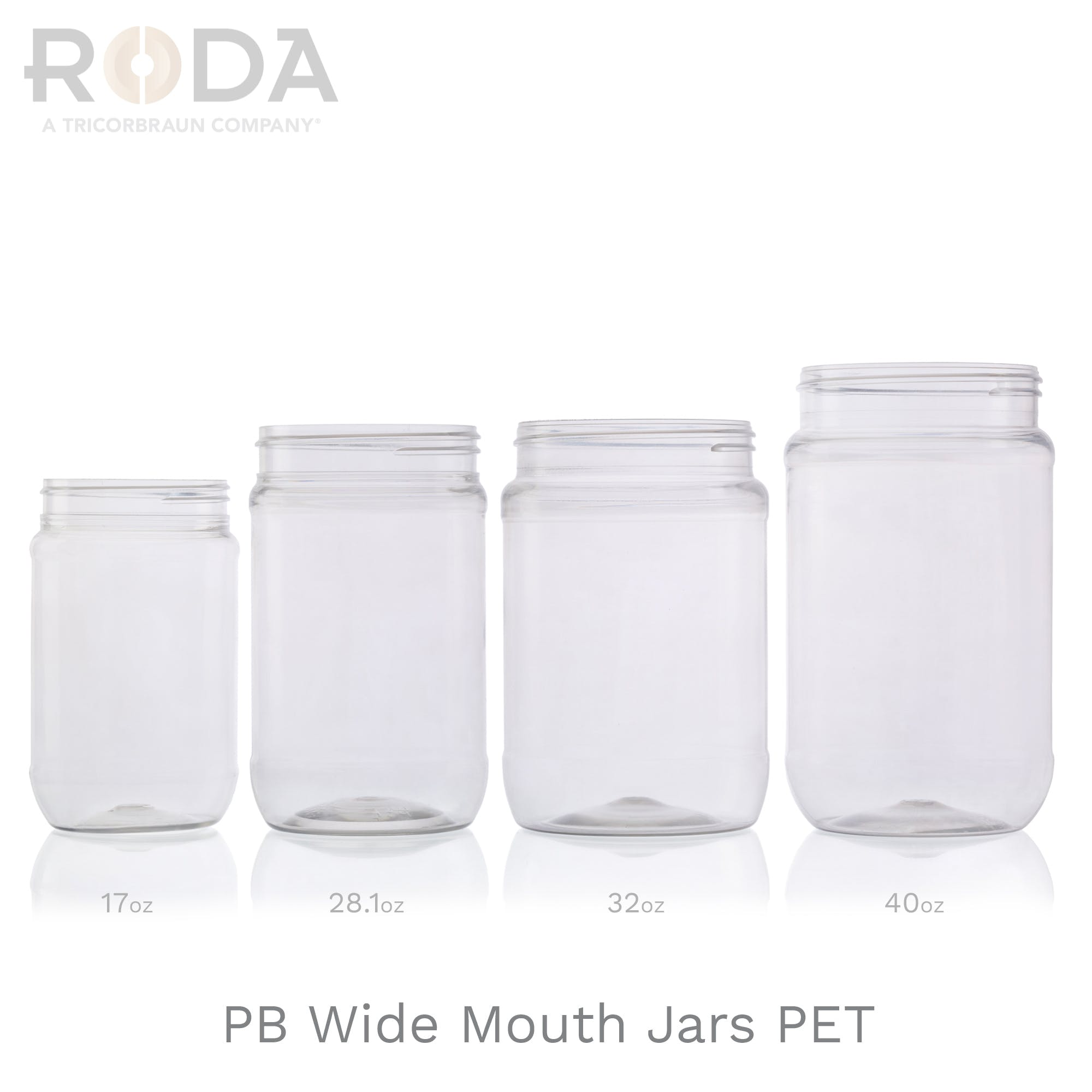 PB Wide Mouth Jars PET