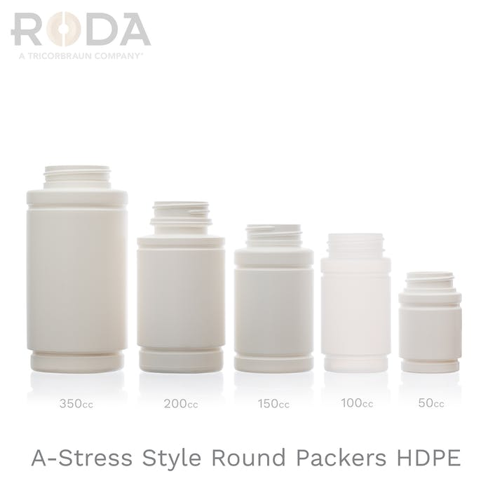 A-Stress Style Round Packers HDPE