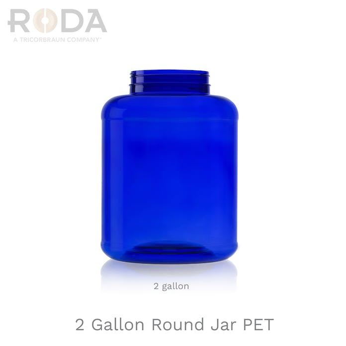 2 Gallon Round Jar PET
