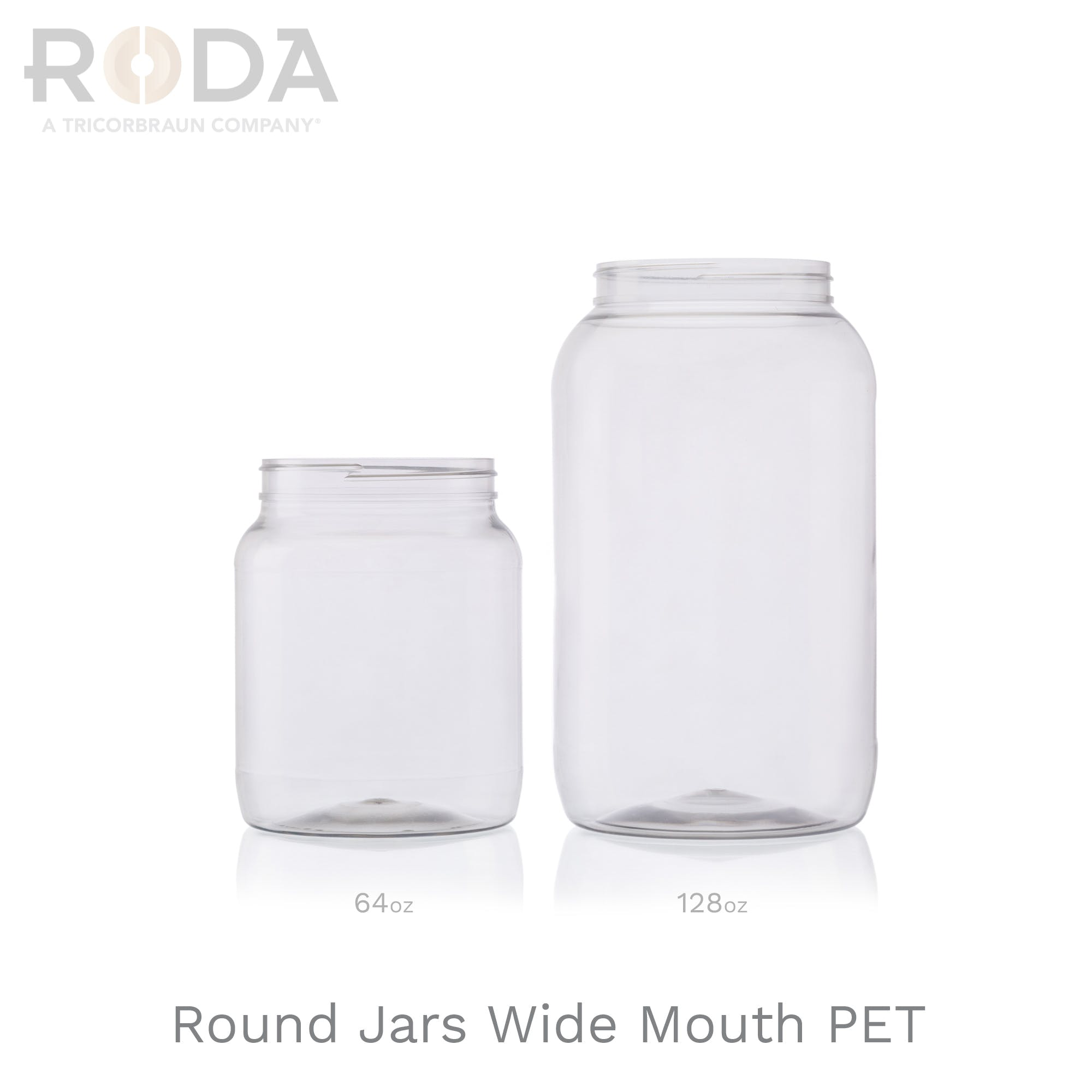 Round Jars Wide Mouth PET