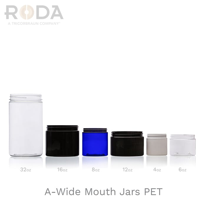 A-Wide Mouth Jars PET