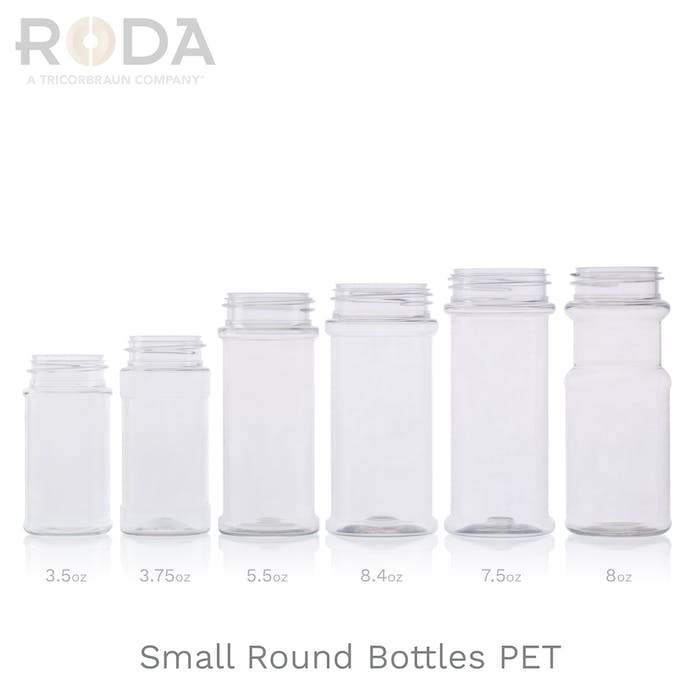 Small Round Bottles PET