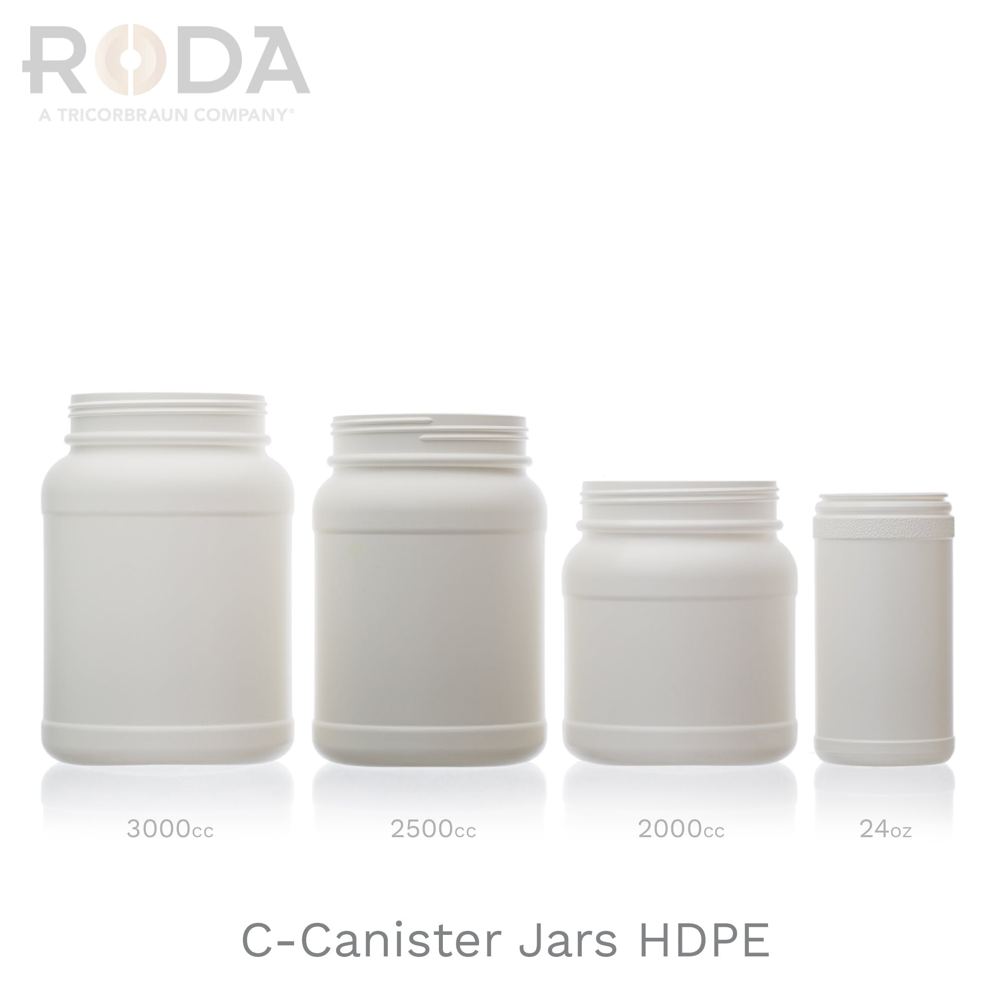 C-Canister Jars HDPE