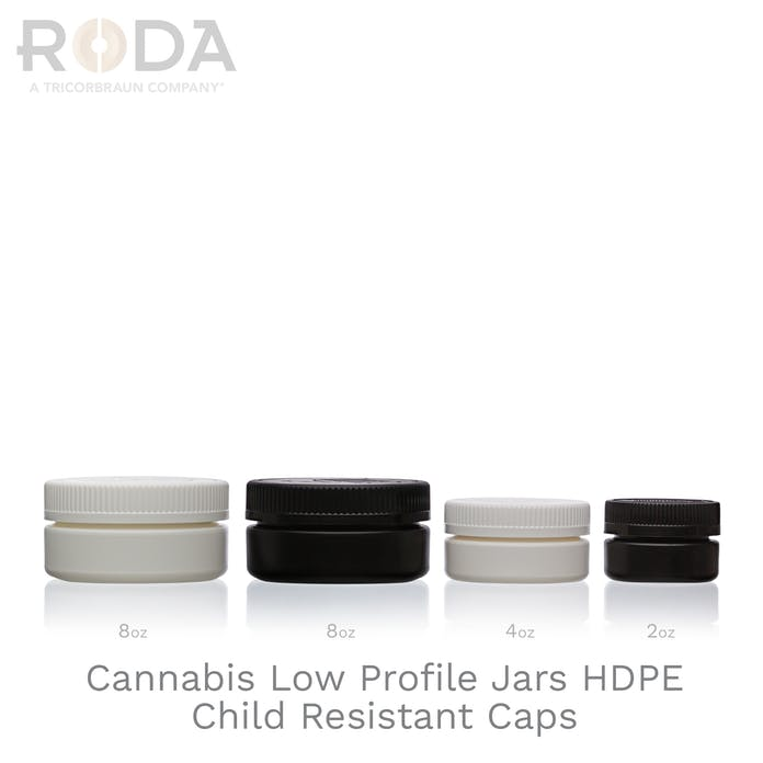Cannabis Low Profile Jars HDPE