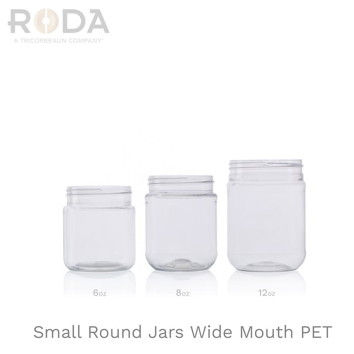 Small Round Jars Wide Mouth PET