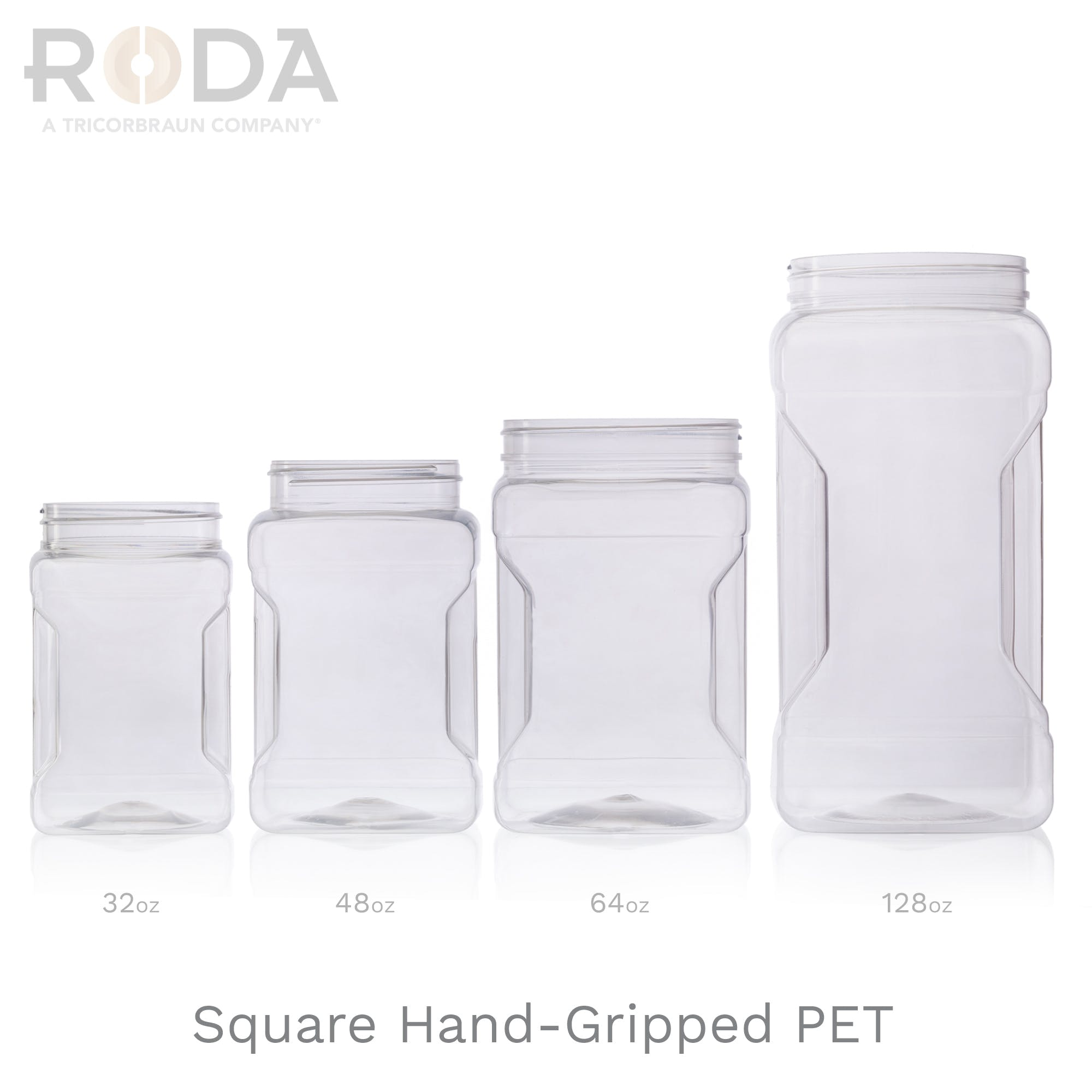 Square Hand-Gripped PET