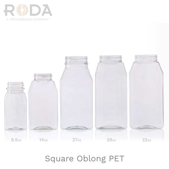 Square Oblong PET