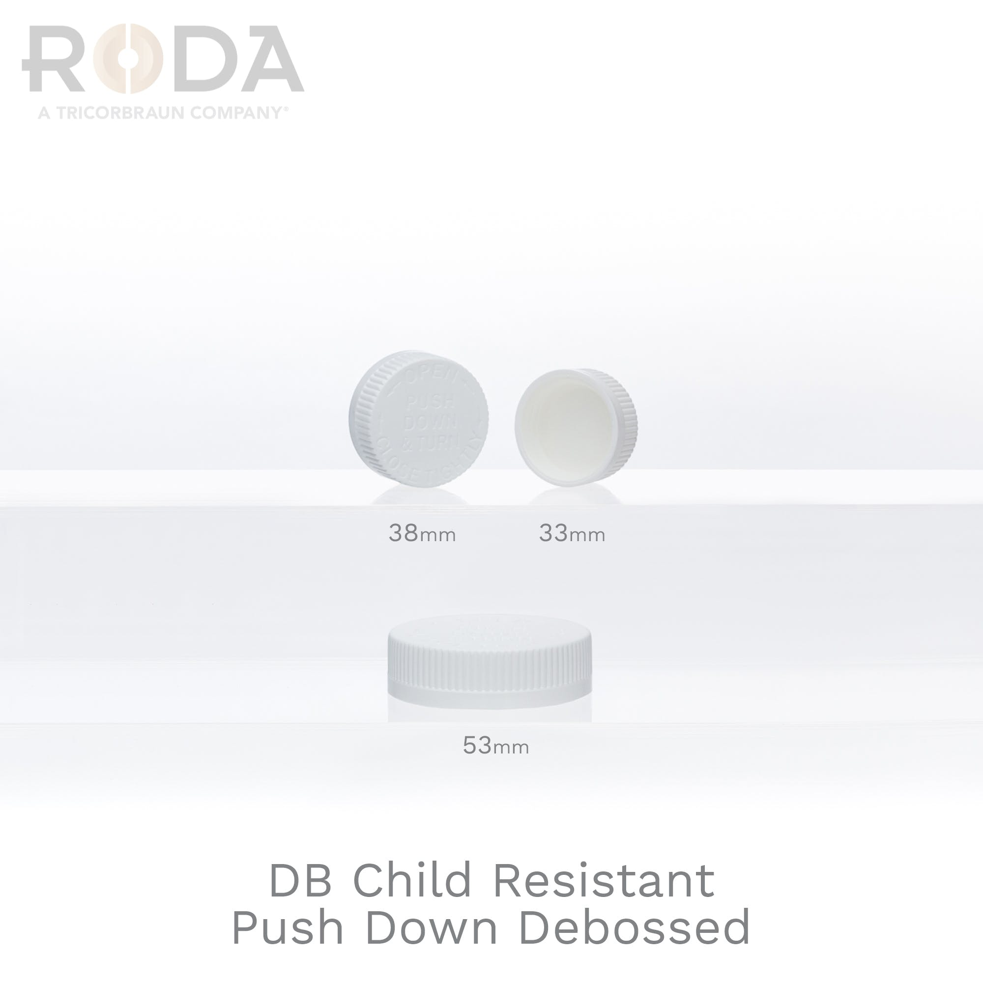 DB Child Resistant Push Down Debossed