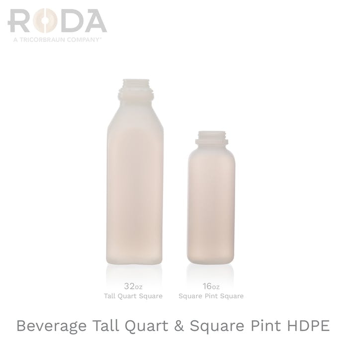 Beverage Tall Quart & Square Pint HDPE
