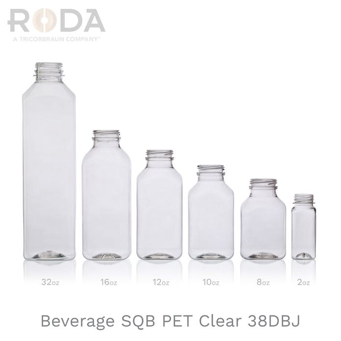 Beverage SQB PET Clear 38DBJ