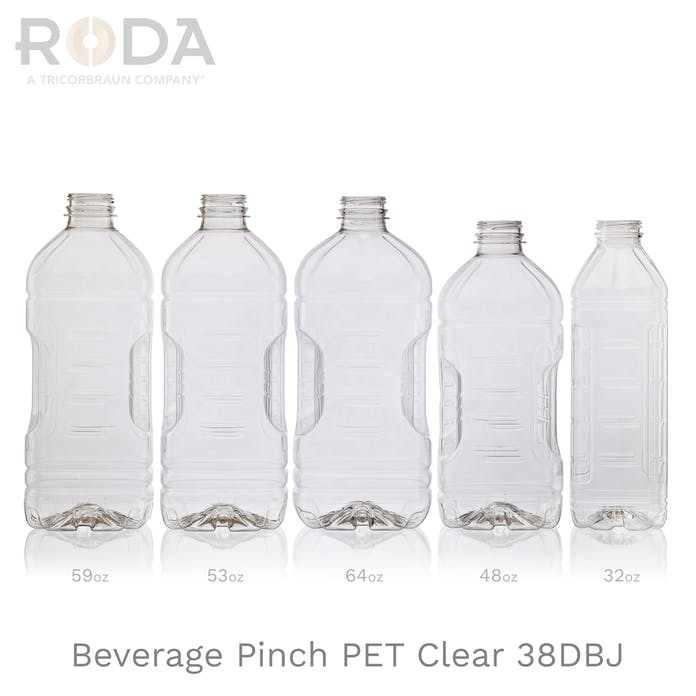 Beverage Pinch PET Clear 38DBJ