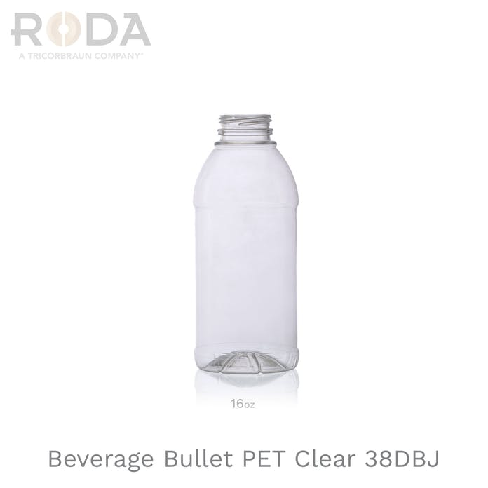 Beverage Bullet PET Clear 38DBJ