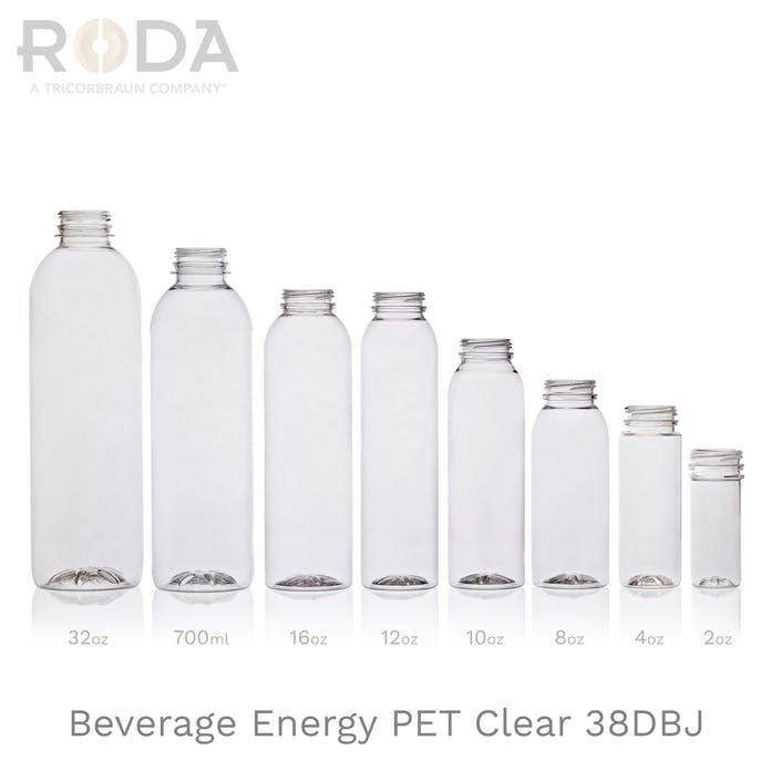 Beverage Energy PET Clear 38DBJ