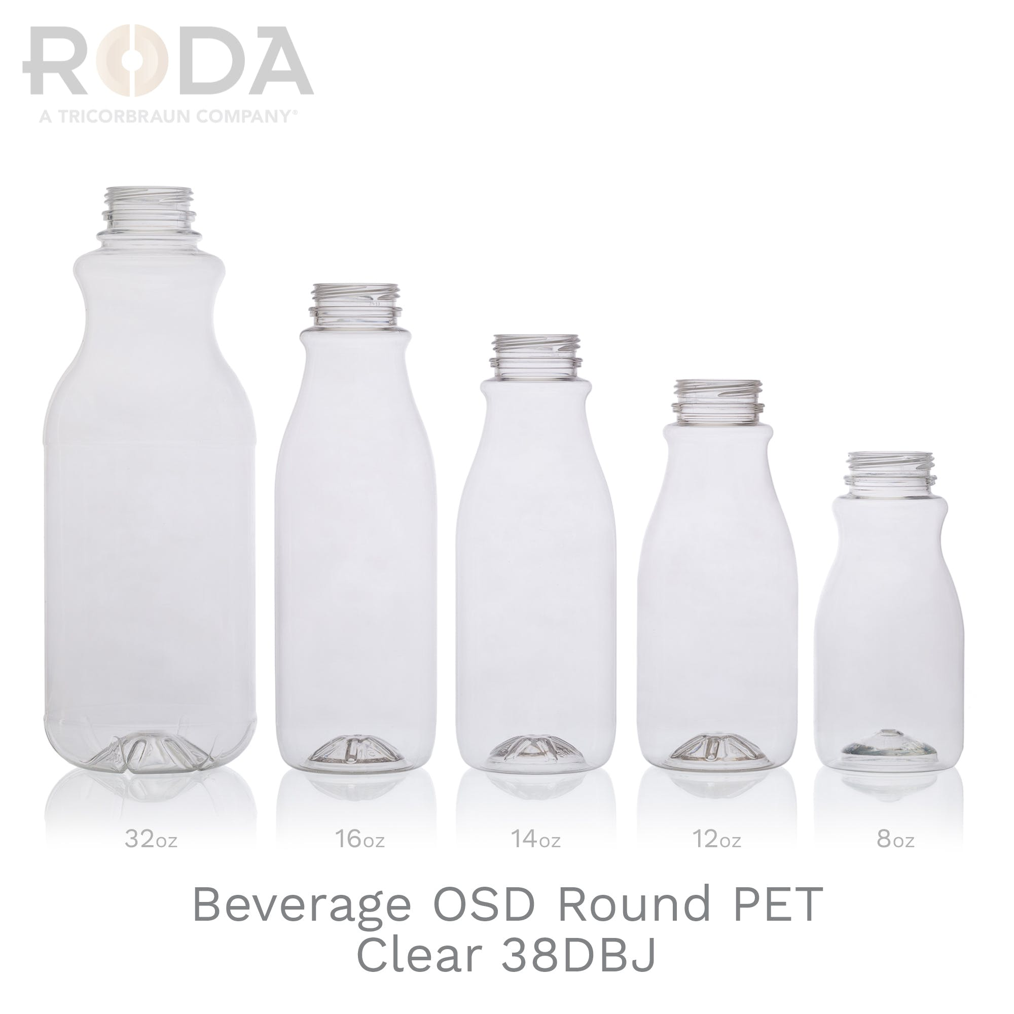 Beverage OSD Round PET Clear 38DBJ