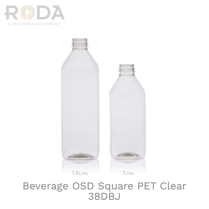 Beverage OSD Square PET Clear 38DBJ